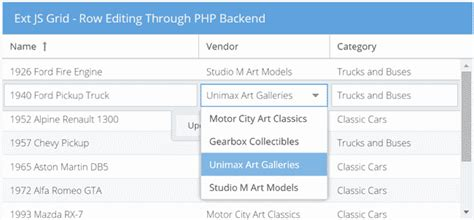 extjs design editor how to edit records with an extjs grid and a php backend