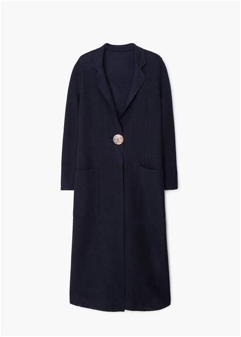 mango premium wool coat in blue lyst