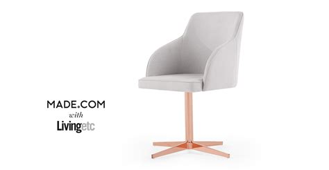 grey desk chair keira office chair cloud grey and copper made
