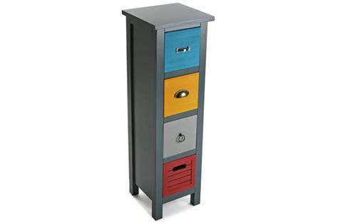 colonne de design pas cher colonne de rangement 4 tiroirs patchos meuble de
