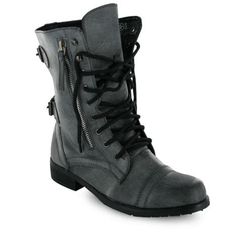 z43 new womens black combat boots sizes 3 8 uk