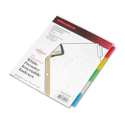templates wilsonjones wilson jones 54145 gold line insertable tab dividers