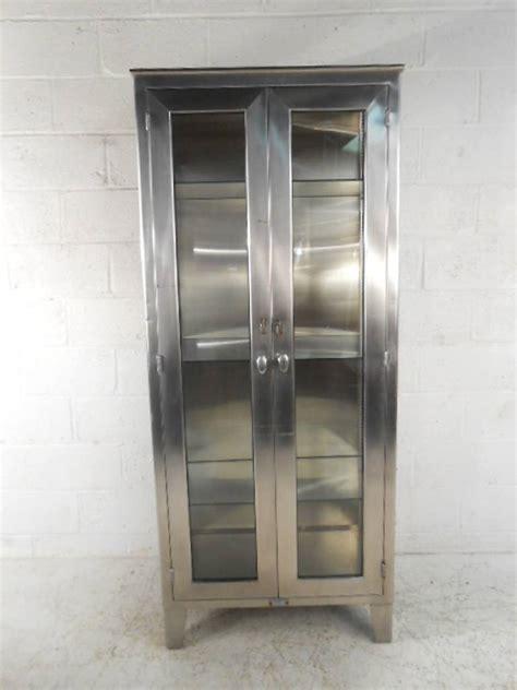 Vintage Industrial Cabinets by Vintage Industrial Metal Display Cabinet At 1stdibs