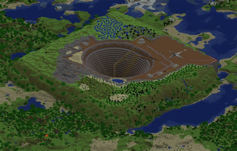 minecraft pit large open pit mine now with ore minecraft project