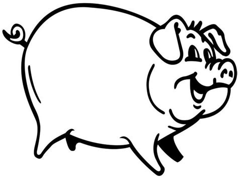 Pig Coloring Page Template | 70 animal colouring pages free download print free