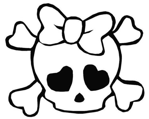cute skull coloring pages girly skulls free coloring pages
