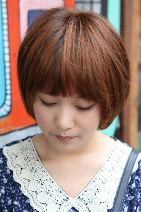 bob haircuts korean cute korean bob hairstyle with blunt bangs latest korean