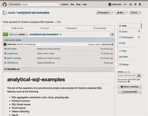 repository pattern github analytical sql scripts now on github oracle the data