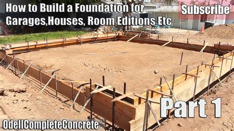 build  foundation  shed  setup concrete garages houses pier footing block wall