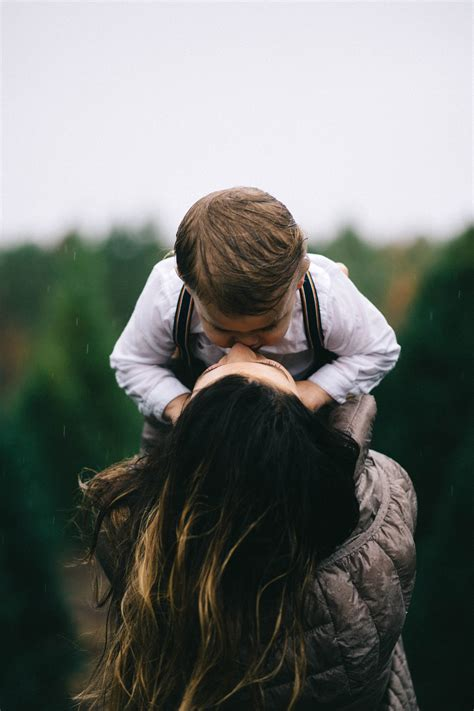 picture boy child girl kid kiss love mother parent people