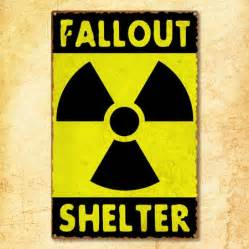 Neon Signs For Home Decor fallout shelter sign metal war sign vintage war sign