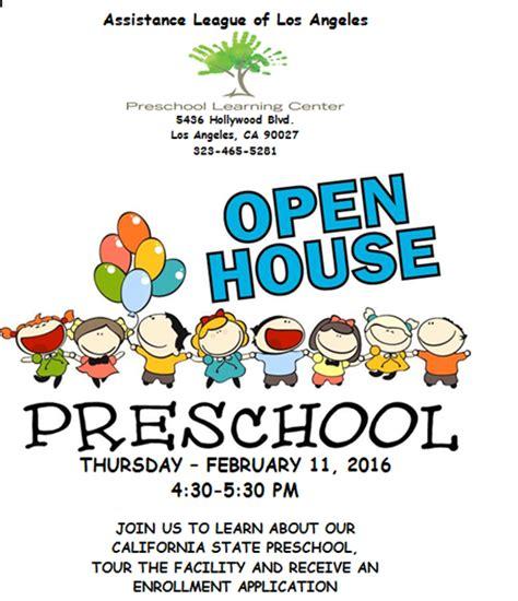preschool learning center s open house invitation