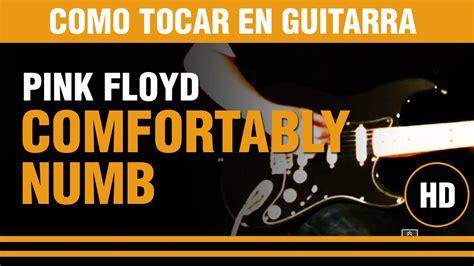 comfortably numb tutorial como tocar comfortably numb de pink floyd en guitarra