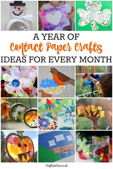Contact Paper Crafts For Toddlers - seasonal contact paper crafts for every month