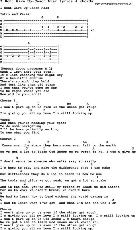 ukulele tutorial i won t give up love song lyrics for i wont give up jason mraz with chords