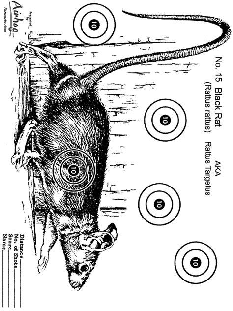printable rat targets all about air guns registered air gun dealer and