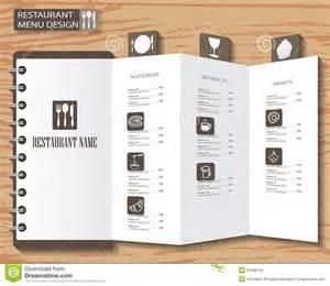 menu layout design templates menu design stock vector image 55488755