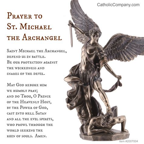 st michael the archangel prayer the catholic company