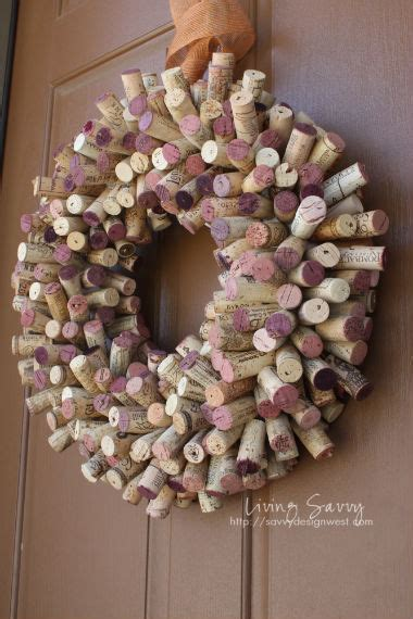 living savvy how to cork wreath