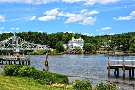 goodspeed opera house connecticut river swing bridge goodspeed opera house photograph by mike martin