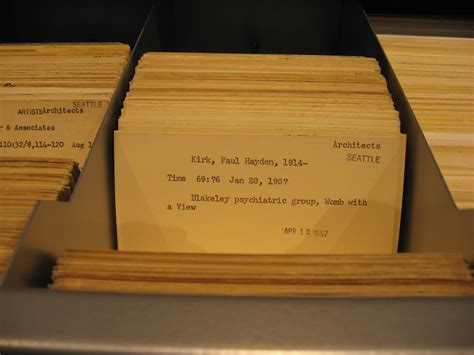 library card catalog research tips for finding info on seattle architects