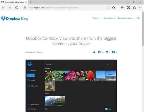 dropbox xbox dropbox アプリがxbox oneに対応 リビングのテレビでコンテンツをストリーム再生 窓の杜