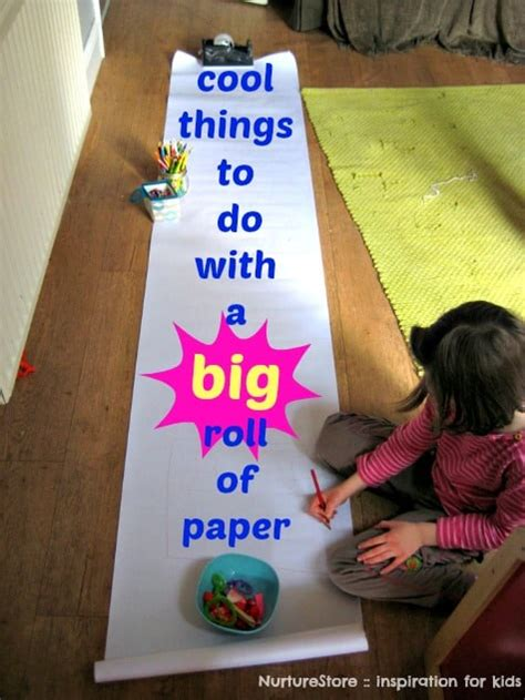 Things To Make And Do With Paper - 7 things to do with a big roll of paper