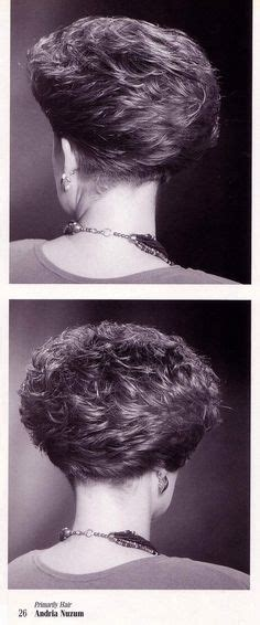 women perm and shaved nape hair permed wedge clippered nape short and wild pinterest