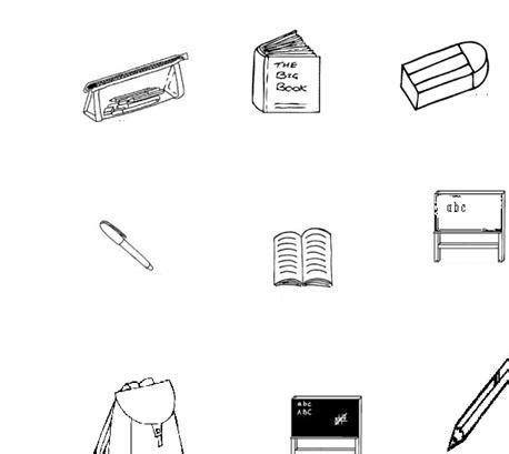 coloring pages for kids classroom objects classroom objects worksheet