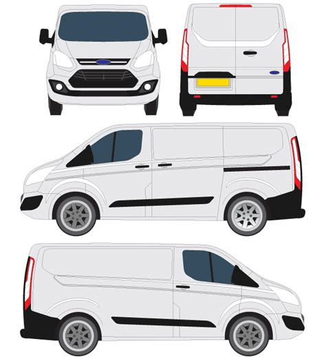 Ford Transit Courier Vector Outline, free vector   365PSD.com