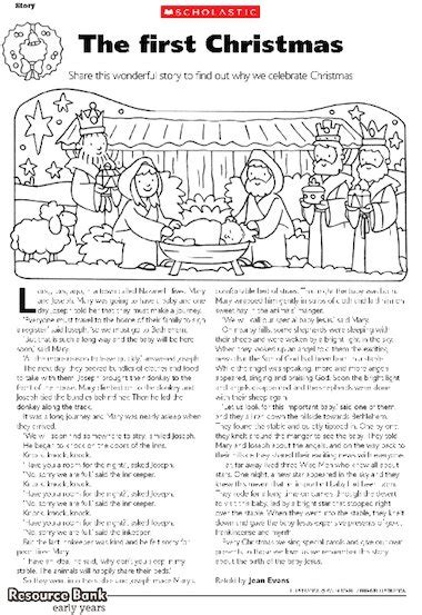printable version of the nativity story the first christmas early years teaching resource
