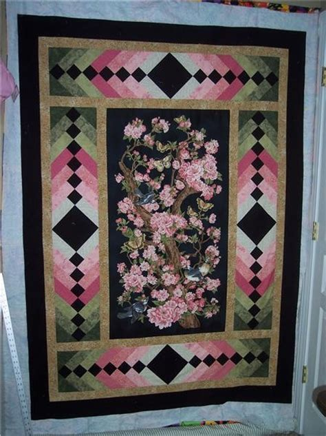 Panel Quilts Free Patterns by A Gorgeous Way To Border A Panel Quilt Panel Quilts