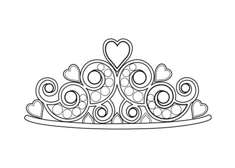 free coloring page crown 20 coloring pages for girls jpg psd ai illustrator