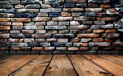 brick wall and wood floor hd wallpaper 1 abstract wooden floors brick wall wallpapers and images
