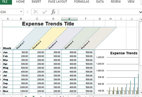 Small Business Expense Sheet For Excel Excel Expense Budget Template