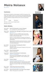 promotional model resume sle brand ambassador resume sles visualcv resume sles