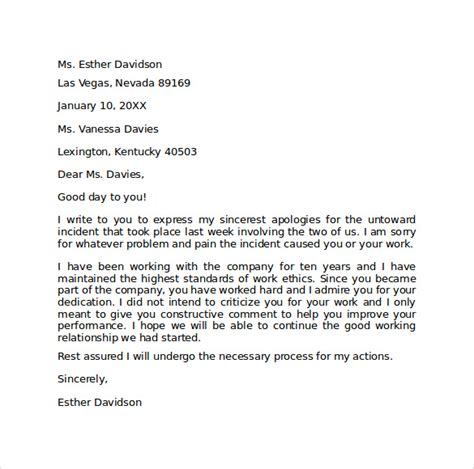 Apology Letter Your Professional Apology Letter 9 Free Documents In Pdf Word