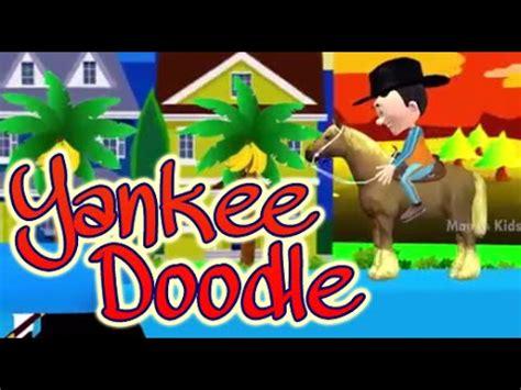 hey doodle doodle rhyme yankee doodle went to town children nursery rhyme songs