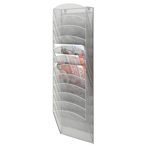 magazine rack with l mesh wall mount magazine rack 11 pockets