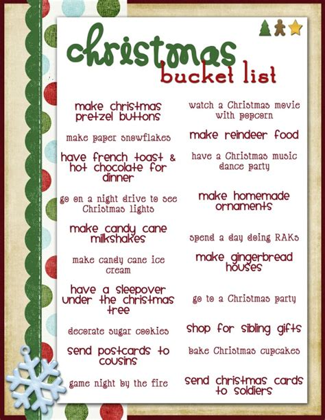 special things to do at christmas for work g list