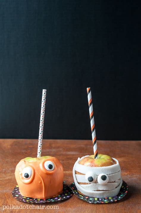 Free Decorating Ideas candy apple monsters caramel apple decorating ideas