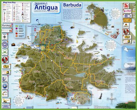 antigua and barbuda map tourist map of antigua and barbuda