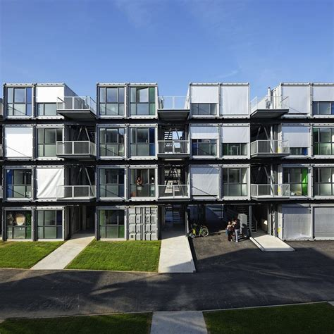 student housing shipping container homes cattani architects cit 233 a docks le havre france