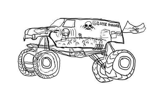 grave digger coloring pages free coloring pages