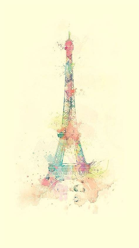 wallpaper for iphone 6 eiffel tower eiffel tower watercolor paint iphone 6 wallpaper cute