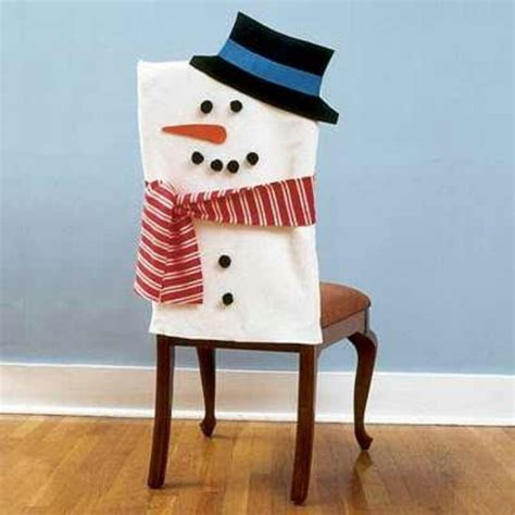 snowman chair cover ladies christmas dinner table decor
