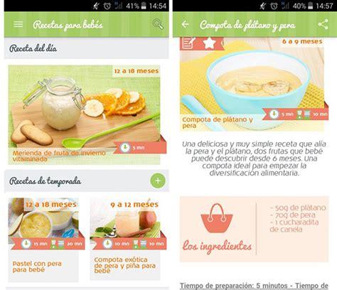 la nueva aplicaci 243 n m 243 vil recetas para beb 233 s 171 recetas