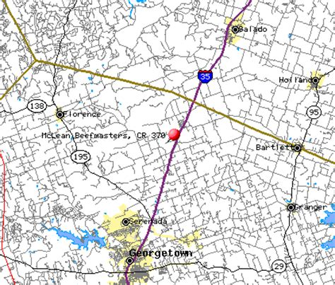 georgetown texas map maps to mclean ranch