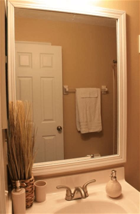 diy framed mirrors for bathroom framed bathroom mirror diy savings lifestyle