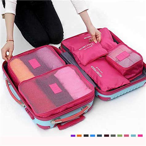 Traveling Bag Organizer 6pcs 6pcs waterproof cube travel storage bags clothes pouch